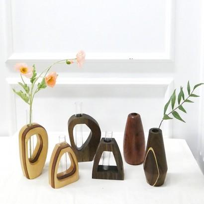 우드아트꽃병 Wood Art Vase